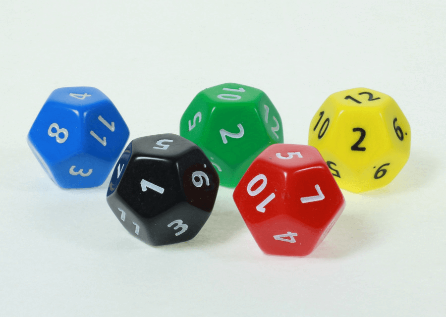 5 polyhedral dice
